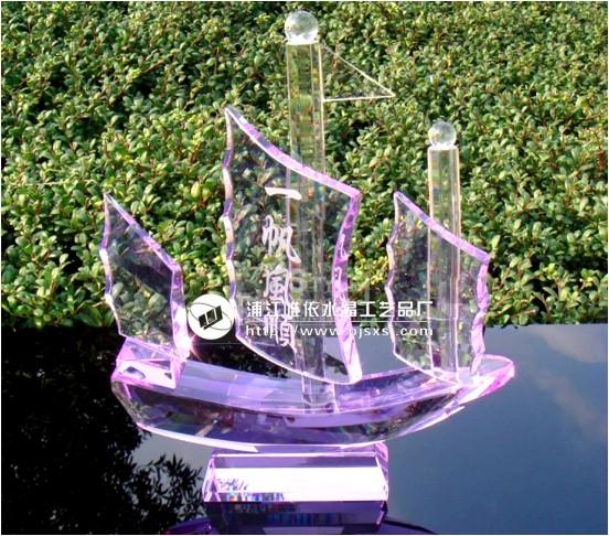 水晶古帆船