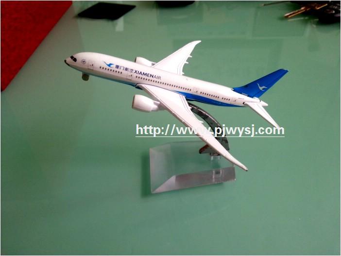 厦门航空飞机模型