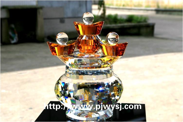 水晶聚宝盆